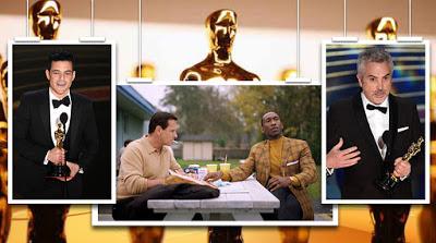 """Foto de Oscar 2019: """"Bohemian Rhapsody"""", """"Roma"""" e """"Green Book – O Guia"""" São os Grandes Vencedores da Noite"""