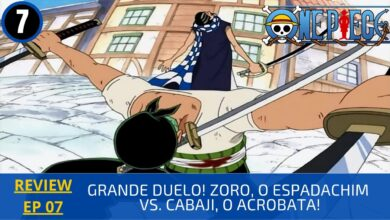 Photo of REVIEW: One Piece 1×07 – Grande Duelo! Zoro, o Espadachim vs. Cabaji, o Acrobata! (1999)