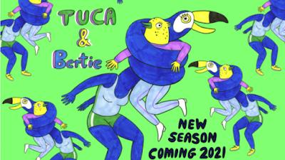 Foto de Série Animada de TUCA & BERTIE Foi Salva para a 2ª Temporada na Adult Swim
