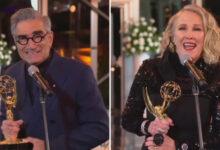 Foto de Estrelas de 'Schitt's Creek' Catherine O'Hara e Eugene Levy ganham seus primeiros Emmys de Atuação